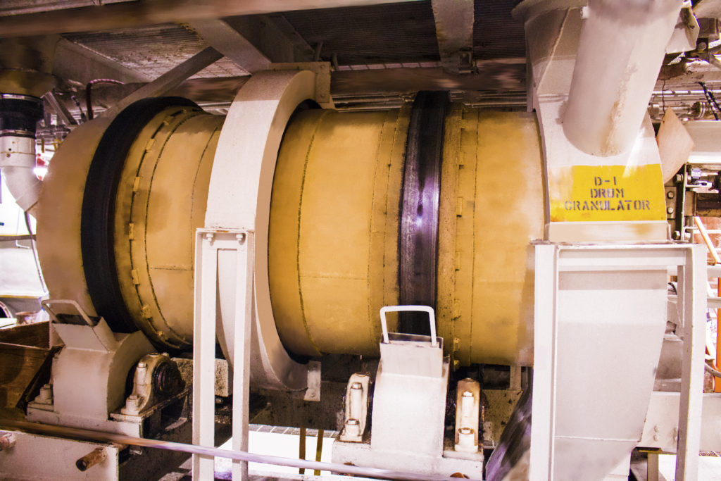 Drum Granulator at the Large-Scale Plant