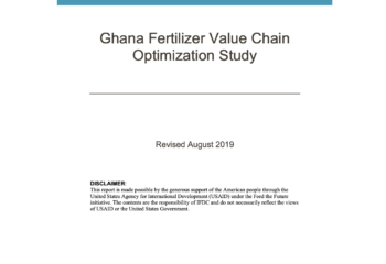 Ghana Fertilizer Value Optimization Study Cover