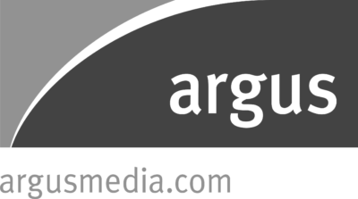 A grayscale logo for Argus Media