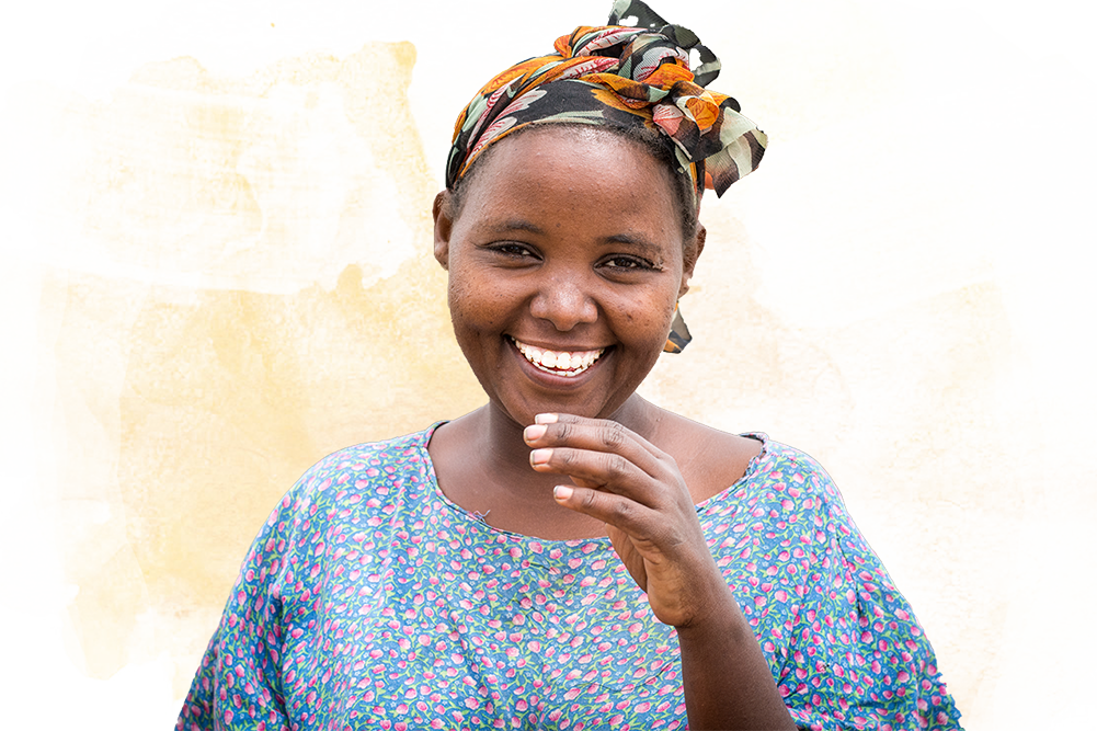 Young Ethiopian Woman Farmer Smiling