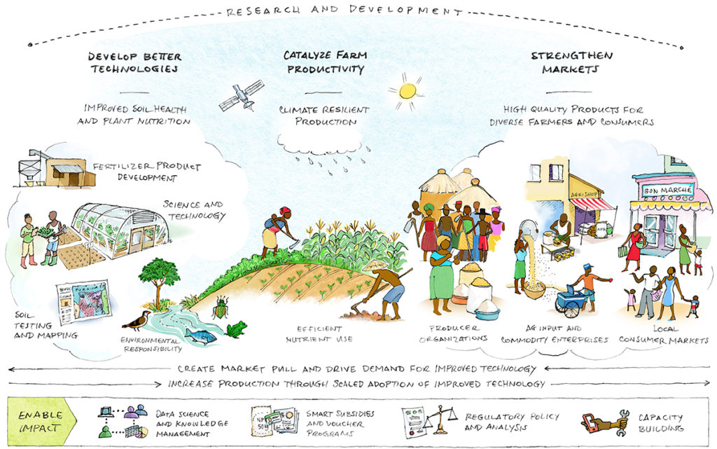 A sketch of IFDC's mission in action