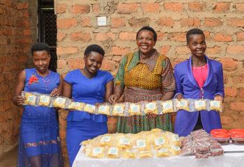 Women Presenting Potato Chips