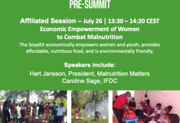 banner with information about UNFSS presummit event
